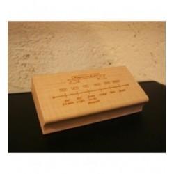 Tampon TSM002 10 x 5 cm personnalisé sur demande