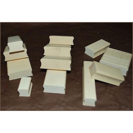 Tampon TSM001 5 x 5 cm suivant vos gouts monté sur bois avec gravure