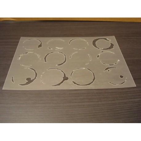 Pochoir cercle de verre P0145 pour vos pages, vos cartes, vos murs