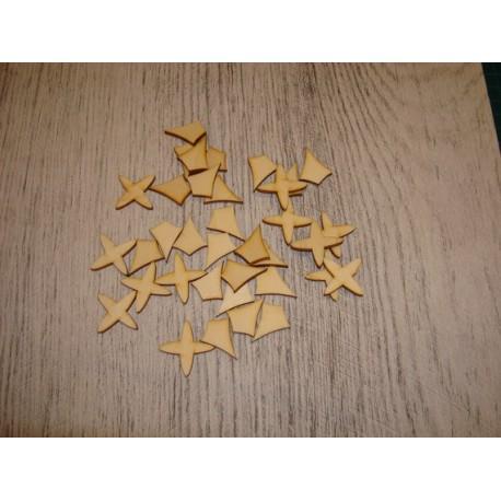 Lot divers formes ba056 embellissement en bois pour vos créations
