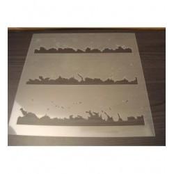 Pochoir éclaboussure d'eau P0142 pour vos pages, vos cartes, vos murs