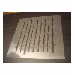 Pochoir bambou P0141 pour vos pages, vos cartes, vos murs