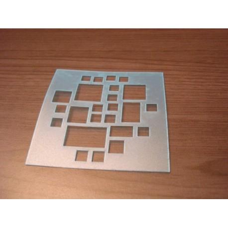 Pochoir multi carré P0137 pour vos pages, vos cartes, vos murs