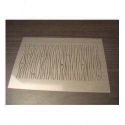 Pochoir imitiation bois P0136w pour vos pages, vos cartes, vos murs