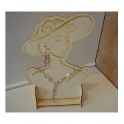 Porte bijou 1377 embellissement en bois pour vos créations