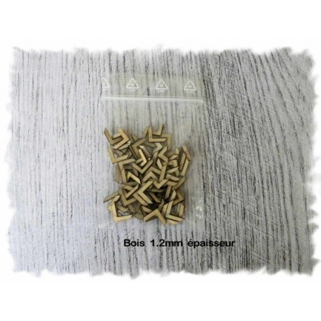 Coin en bois ba012 embellissement en bois pour vos créations