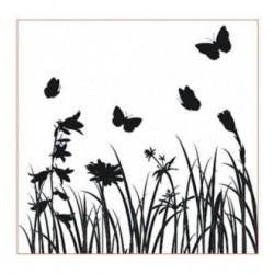 Tampon papillon et herbe tc186 vendu non monté
