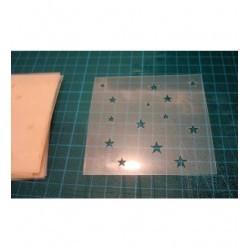 Pochoir étoiles P014 pour vos pages, vos cartes, vos murs
