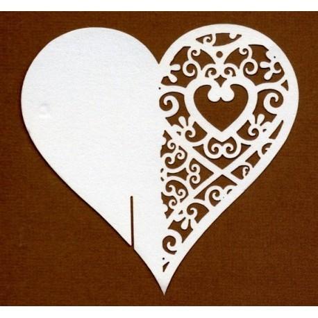 Coeur marque place par 10 a vos couleur 1366