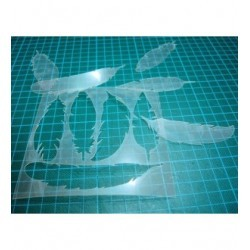 Pochoir plumes P0135 pour vos pages, vos cartes, vos murs