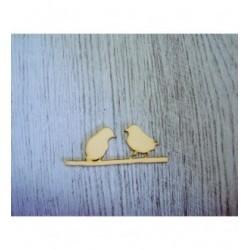 2 Oiseaux 1333 embellissement en bois pour vos créations