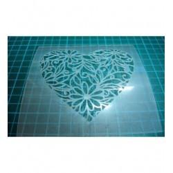Pochoir coeur P0132 pour vos pages, vos cartes, vos murs