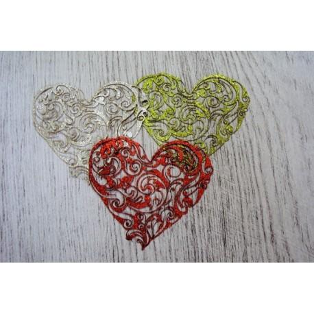 Coeur paillette 1162/1320 une découpe en bois pour vos création