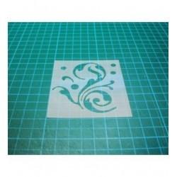 Pochoir Arabesque p0127 pour vos pages, vos cartes, vos murs