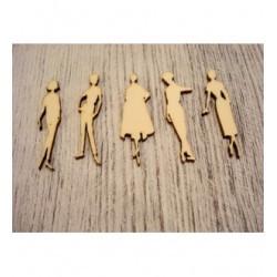 5 femmes des année 30 /1240 embellissement en bois pour vos créations