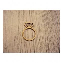 Bague diamant1220 embellissement en bois pour vos créations
