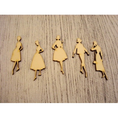 5 femmes 1215 embellissement en bois pour vos créations