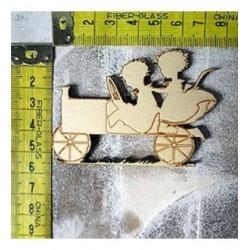 Automobile 323 embellissement en bois pour vos créations