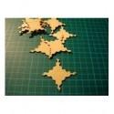 Forme bois de 1.2 mm ba022 embellissement en bois pour vos créations