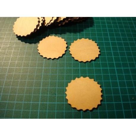 Rond ciselé ba021 embellissement en bois pour vos créations