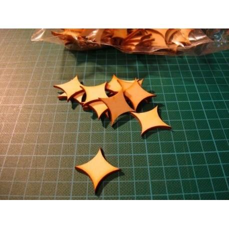 Grande forme ba016 embellissement en bois pour vos créations
