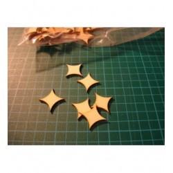 Moyenne forme ba015 embellissement en bois pour vos créations
