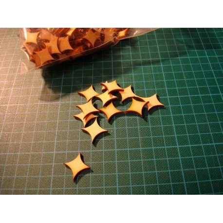 Petite forme ba014 embellissement en bois pour vos créations