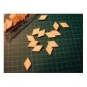 Petit losange ba013 embellissement en bois pour vos créations