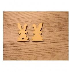 2 petit lapin 1191 embellissement en bois pour vos créations