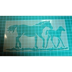 Pochoir chevaux 0122 pour vos pages, vos cartes, vos murs