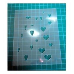Pochoir coeur 0120 pour vos pages, vos cartes, vos murs