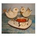 porte bougie HD004 avec deux oiseaux amoureux