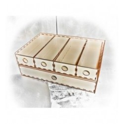 Rangement HD013 2 boites avec tiroir super possable