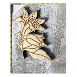 Fleur 453 un embellissement en bois pour vos créations