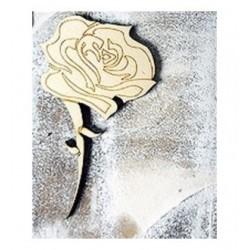 Fleur 350 un embellissement en bois pour vos créations