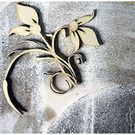 Fleur 339 un embellissement en bois pour vos créations