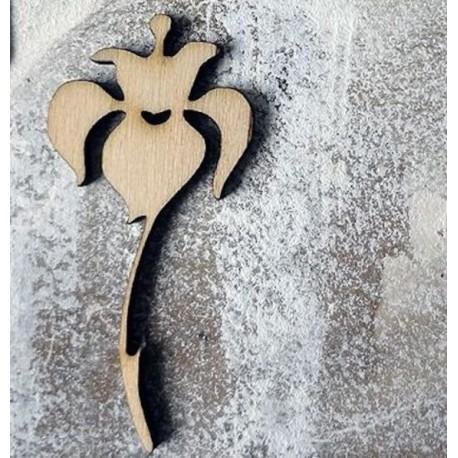Fleur 259 un embellissement en bois pour vos créations