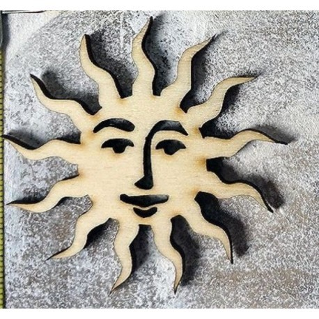 soleil 1367 un embellissement en bois pour vos créations