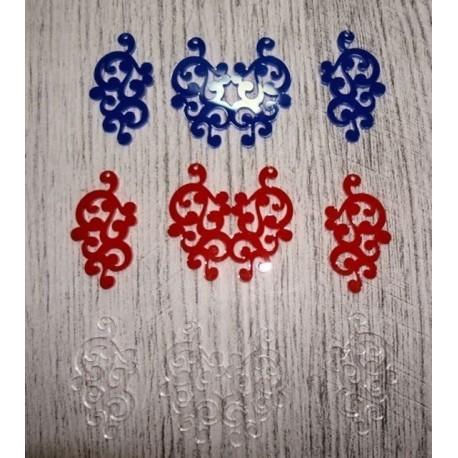 collier 1781 et boucles dans du plexi 1 couleur au choix