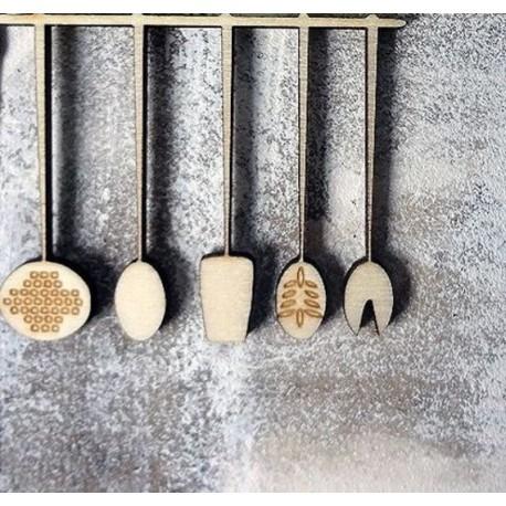 ustensiles de cuisine 00669 un embellissement en bois pour vos créations