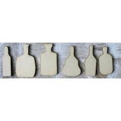 lot bouteille 247 un embellissement en bois pour vos créations