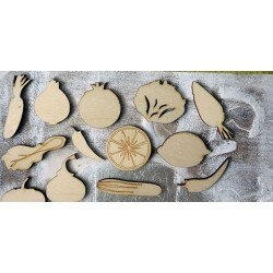 lot 278 de légume un embellissement en bois pour vos créations