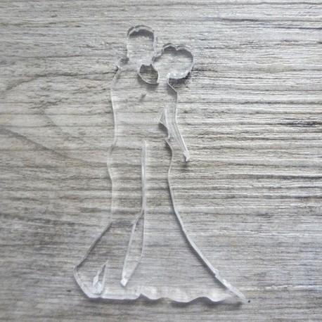 couple 115 de mariés en plexi pour mettre sur vos carte