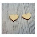 2 coeurs 1061 une découpe en bois pour vos cartes