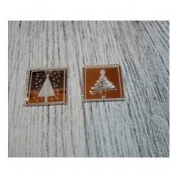 Lot Sapin de timbres 1048 de Noël une découpe en bois pour vos cartes