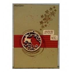 Boule de Noël 1044 une découpe en bois pour vos cartes