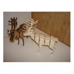 Lot de cerf HD043 une découpe en bois en 3D