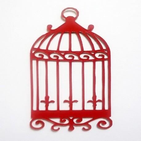 cage et un oiseau 408 suprise en plexi pour votre scapbooking
