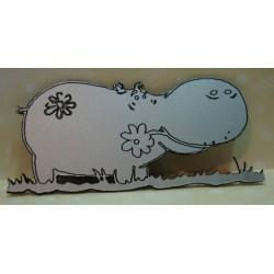 un hippopotame 151 en plexi pour vos pages de scrapbooking