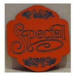 une petite plaque 185 de couleur qui transport un méssage